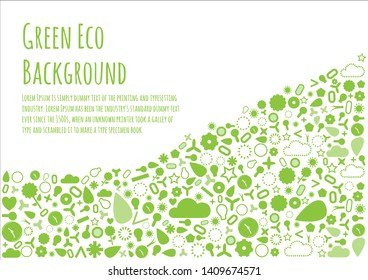 Copy space on green element background. Eco friendly design idea.