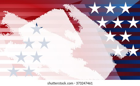 Copy space United States of America decoration background. Fourth of July, Independence Day, Washington's Birthday (Presidents Day). Presidents day textured background with USA stars and stripes
