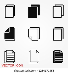 Copy vector icon. Duplicate app symbol. Creative UI item