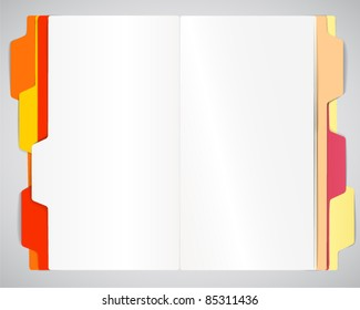 Copy-book on a table vector template