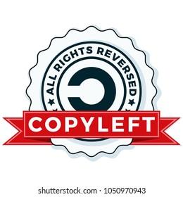 Copyleft All Right Reversed Illustration