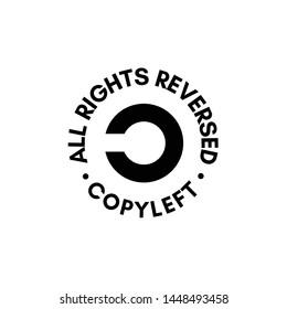 Copyleft All rights reversed sign stamp illustration