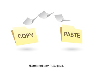 Copy-paste illustration. Vector