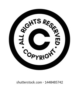 Copyright All rights reserved sign stamp illustration