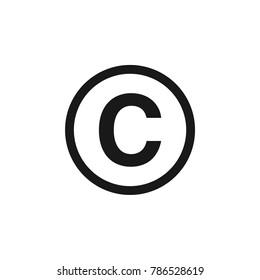 Copyright Circle Icon Vector Template