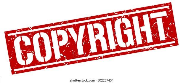 copyright. grunge vintage copyright square stamp. copyright stamp.