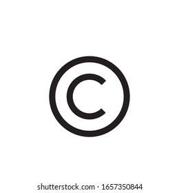 Copyright icon design isolated on white background. vector illustration