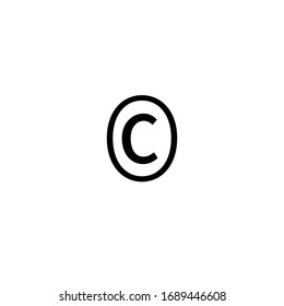 Copyright Icon for Graphic Design Projects