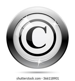 Copyright icon. Internet button on white background. EPS10 vector.
