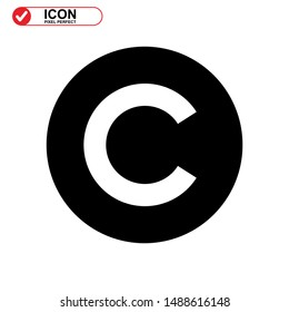 copyright icon isolated sign symbol vector illustration - high quality black style vector icons