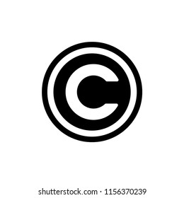 Copyright icon logo template