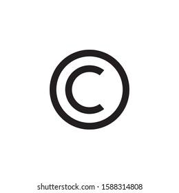 Copyright icon symbol vector illustration