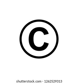 Copyright Icon Vector Illustration Logo Template. Intellectual Property Sign and Symbol.