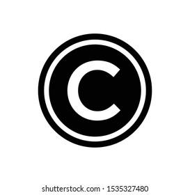 Copyright icon vector logo template