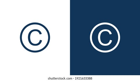 Copyright icon for web and mobile