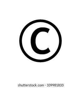 Copyright symbol - black vector icon