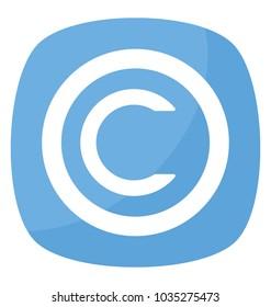 Copyright symbol for brand management