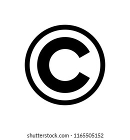 copyright symbol. copyright button