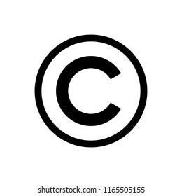 copyright symbol. copyright button