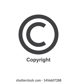Copyright symbol in flat style. eps 10