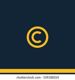 Copyright symbol icon.