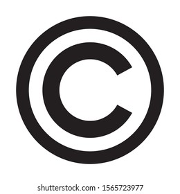 Copyright symbol icon. C letter in circle