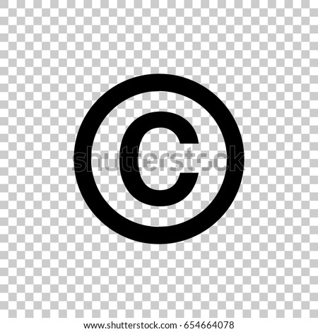 Copyright Symbol Isolated On Transparent Background Stock Vector