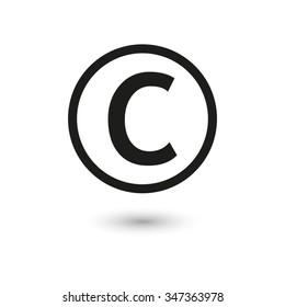 Copyright symbol - vector icon