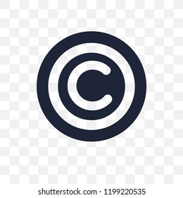 Copyright transparent icon. Copyright symbol design from SEO collection. Simple element vector illustration on transparent background.