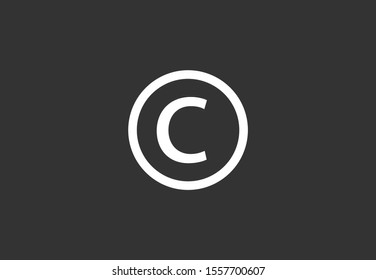 Copyright vector icon. copyright technology icon. the copyright for the sale of equipment icon. 10 years EPS design. Lorem Ipsum.