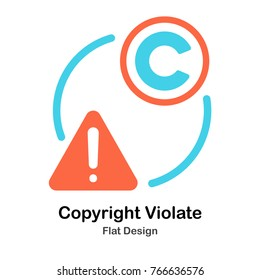 Copyright Violation Flat vector Illustration