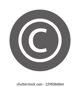 copyrights vector icon eps 10