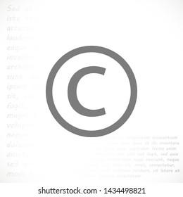 copyrights vector icon eps 10 , Lorem ipsum Flat design