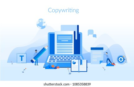 Copywriting Concept for web page, banner, presentation, social media, documents, cards, posters. Vector illustration