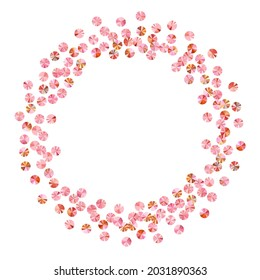 Coral beads confetti placer vector composition. International Women's Day March 8th card background. Luxury glossy foil particles party decor. Confetti for Mother's day.