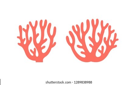 Coral logo. Isolated coral on white background