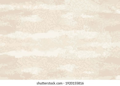 Coral Seamless pattern. Ocean world vintage style background.textile, wallpaper,