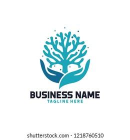 coral seaweed logo