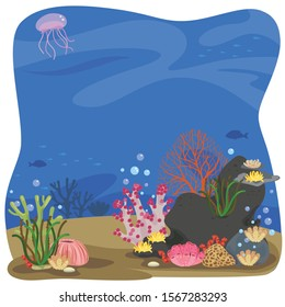 Coral under the sea background.