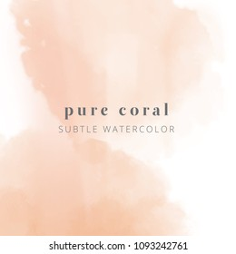 coral watercolor. vector eps 8