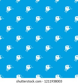 Corded jig saw pattern vector seamless blue repeat for any use