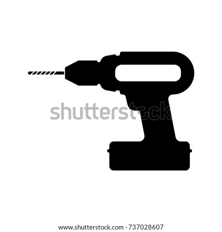A cordless drill icon in vector format.