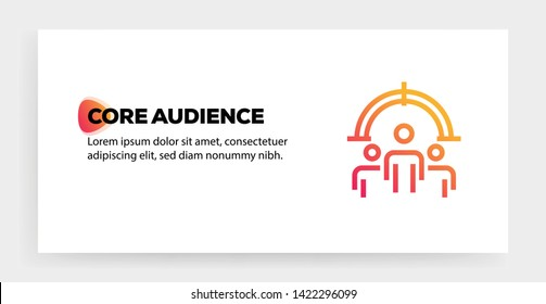 CORE AUDIENCE AND ILLUSTRATION ICON CONCEPT