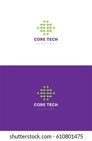 Core tech logo template.