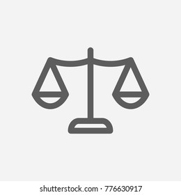 Core values: honesty icon line symbol. Isolated vector illustration on company values justice sign concept for your web site mobile app logo UI design.