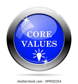 Core values icon. Internet button on white background. EPS10 vector