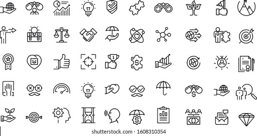 Core Values vector icons  design black and white