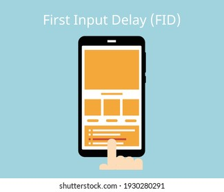 core web vitals in First Input Delay (FID)