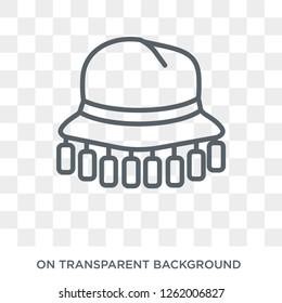 Cork hat icon. Cork hat design concept from Australia collection. Simple element vector illustration on transparent background.