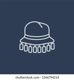 Cork hat icon. Cork hat linear design concept from Australia collection. Simple element vector illustration on dark blue background.